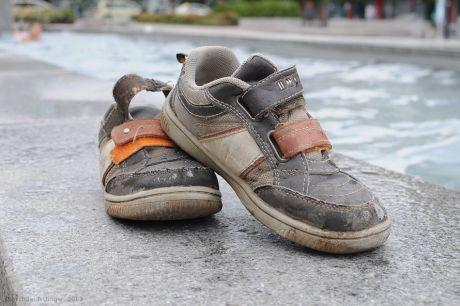 Trockene Schuhe