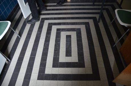Fußbodenmuster: in blauen Zimmer