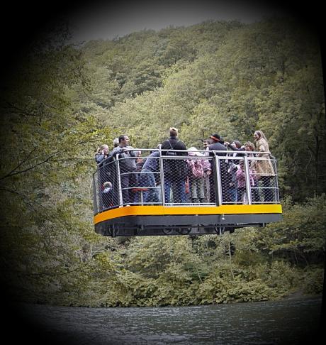 Schwebefähre im Müngstener Brückenpark: Foto aus dem Jahre 2006