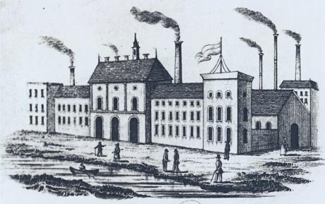 """Briefkopf der Küllenbergschen Scherenfabrik und Gießerei """"Sheffield"""" im Weinsbergtal: um 1855"""