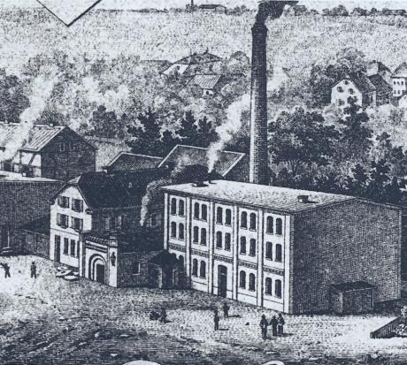 Ansicht der Firma Daniel Küllenberg Sohn: um 1900
