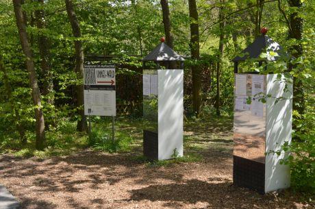 Skulpturen im Murbachtal: Sinneswald, Eintritt frei, es gibt einen Spendenstein, der sich über Futter freut