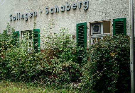 Solingen-Schaberg, ein grüner Bahnhalt