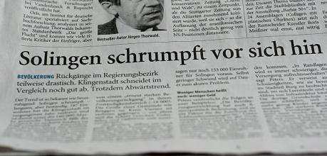 Solingen schrumpft vor sich hin: Solinger Tageblatt vom 28. Juli 2010