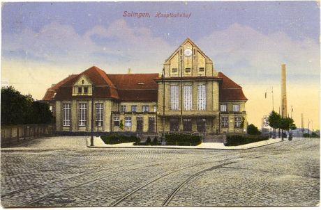 Solinger Hauptbahnhof: Karte ist am 29.12.1933 von Solingen aus nach Döbern gelaufen - Verlag unbekannt