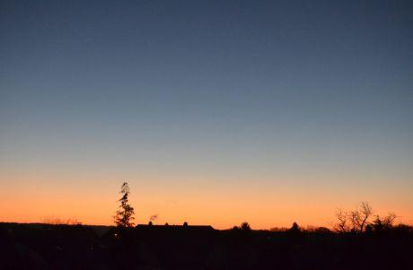 Blaue Stunde, die Zeit vor dem Sonnenaufgang