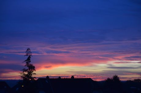 Sonnenaufgang am 24.11.2016