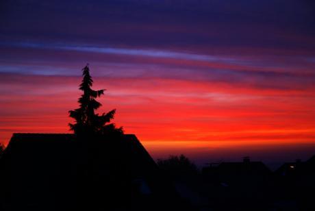 Sonnenaufgang: Oktober 2009