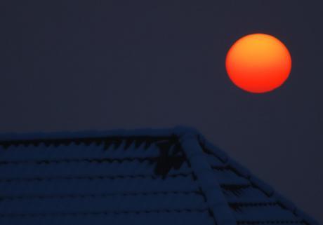 Sonnenaufgang: über Hästen