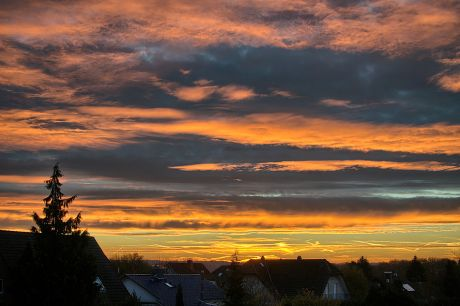 Sonnenaufgang am 12.11.2013