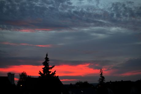 Sonnenaufgang am 17.10.2016