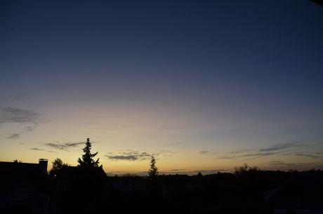 blaue Stunde am Morgen, 21.Oktober 2017