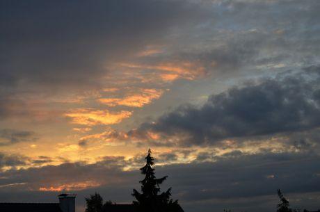 Sonnenaufgang: Mittlerweile sind wir bei 7:21 Uhr angekommen