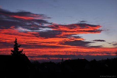 kurz vor Sonnenaufgang am 23.11.2012