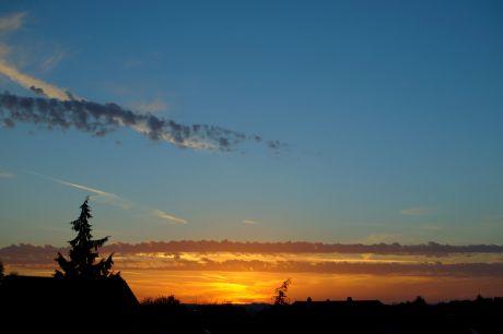 Sonnenaufgang am 1. November 2014
