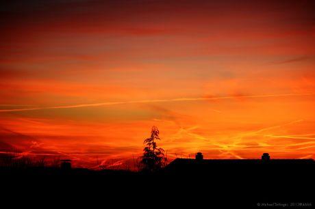 Morgendämmerung kurz vor dem Sonnenaufgang