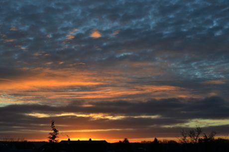 Sonnenaufgang am 29.1.2016