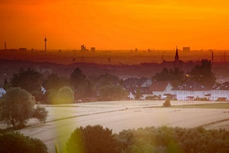 Sonnenuntergang über Düsseldorf