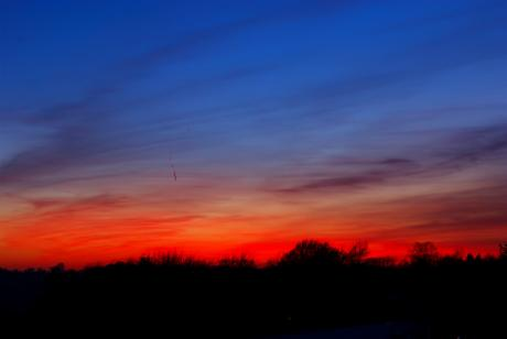 Sonnenuntergang: in der farbenprächtigen Version
