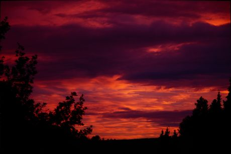 Sonnenuntergang: Der Blick nach Nordwesten