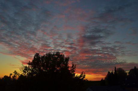 Sonnenuntergang: und schon ist sie wieder weg, die Sonne