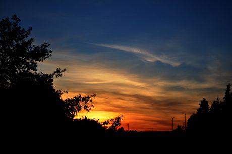 Sonnenuntergang am 29. September 2018