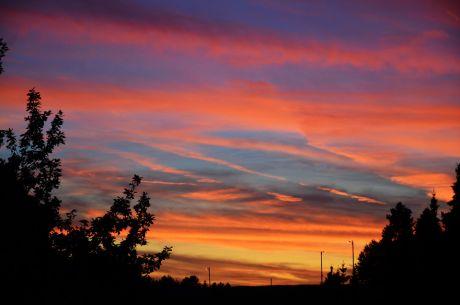 Sonnenuntergang: Man backt da oben!