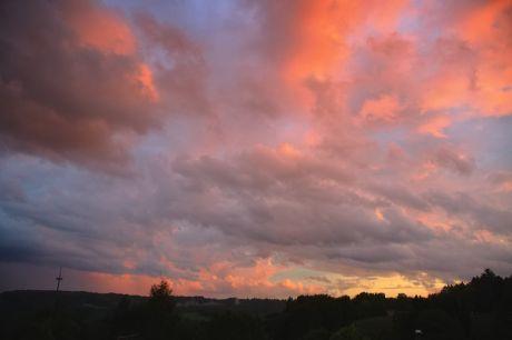 Sonnenuntergang, 10.8.2014, 21:00 Uhr