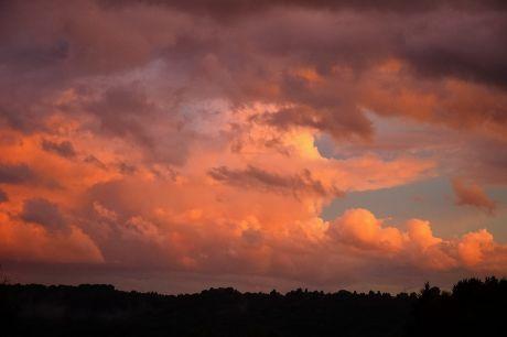 Sonnenuntergang, 10.8.2014, 21:01 Uhr