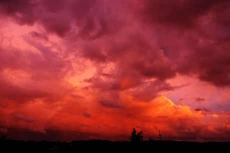 Sonnenuntergang, 10.8.2014, 21:08 Uhr