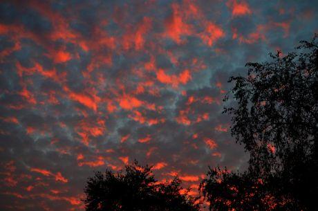 Sonnenuntergang am 26. Oktober 2016