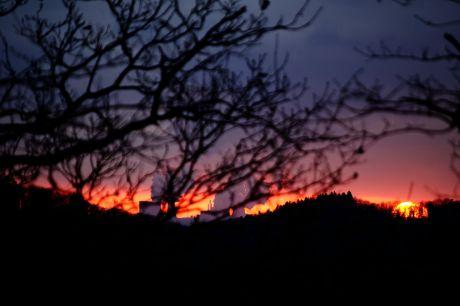 Sonnenuntergang am 22. Februar 2014