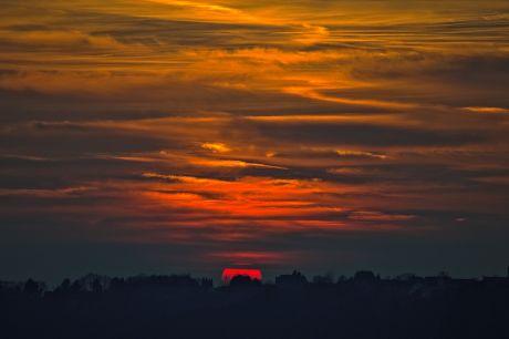 Sonnenuntergang über Widdert