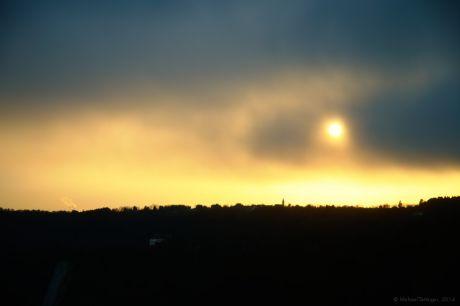 Sonnenuntergang am 23. März 2014