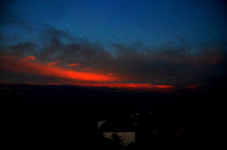 Sonnenuntergang: aber die Rückseite, Blick gen Südost