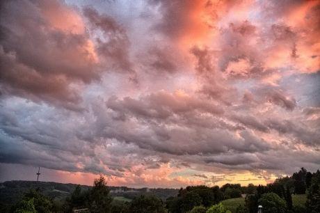 Sonnenuntergang, 10.8.2014, 21:00 Uhr mit  HDR