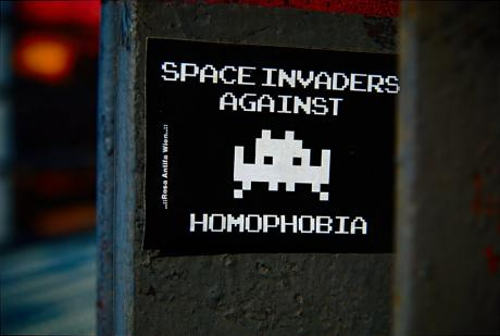 Space Invaders against: Homophobia