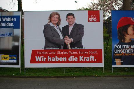 Wir haben die Kraft.: Wahlplakat der SPD zur vorgezogenen Landtagswahl in NRW 2012