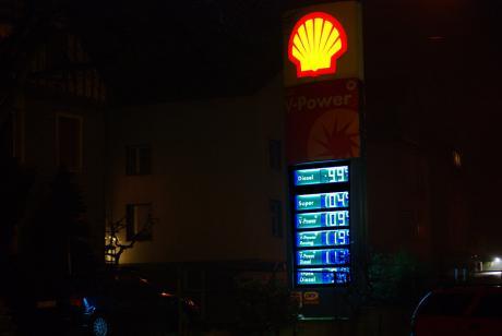 Spritpreise-20081215: Wuppertal-Nächstebreck