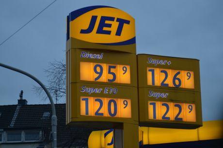 Spritpreise am 29.1.2016: an einer Solinger Tankstelle