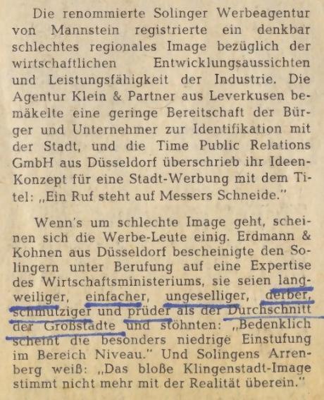 Solingen-Werbung: Solinger Morgenpost am 21. Mai 1977