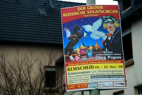 Werbeplakat: Der große russische Staatscircus