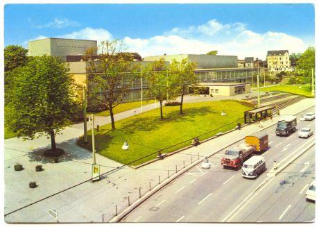 565 Solingen, Stadttheater: gelaufen am 1.7.1978, 40 Pfennig fürs Porto geklebt