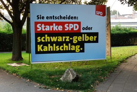 Starke SPD: oder schwarz-gelber Kahlschlag.