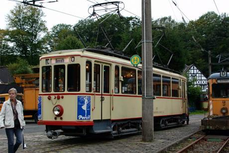 Straßenbahn im Kohlfurther Depot