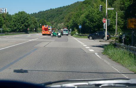 Straßensperre der Polizei: L74 Kohlfurth