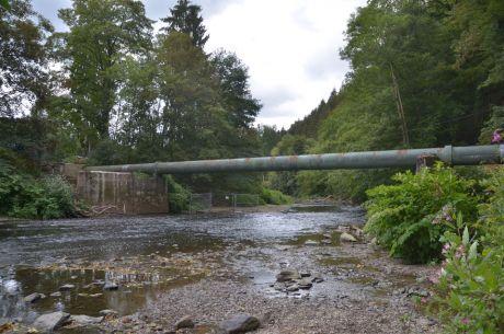 Verblieben ist die Wasserleitung