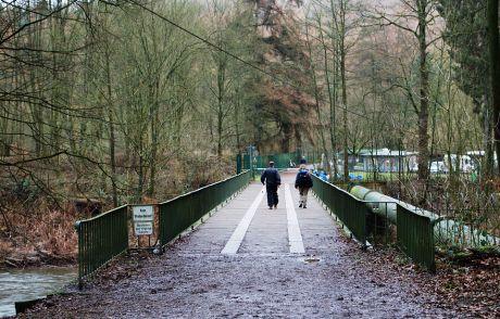 Wupperbrücke in Strohn: neben dem Solinger Tierheim