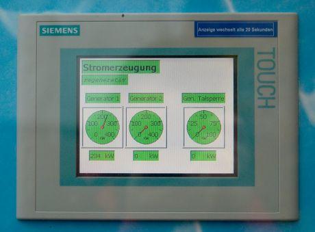 Stromerzeugung regenerativ: (November 2009 am Wasserwerk Strohn/Sengbachtalsperre)