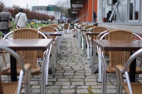 Cafe Stückgut: bei einstelligen Plusgraden.